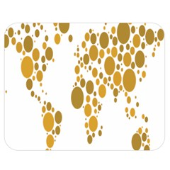 Map Dotted Gold Circle Double Sided Flano Blanket (medium)  by Alisyart