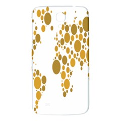 Map Dotted Gold Circle Samsung Galaxy Mega I9200 Hardshell Back Case by Alisyart
