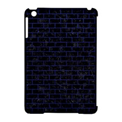 Brick1 Black Marble & Blue Leather Apple Ipad Mini Hardshell Case (compatible With Smart Cover) by trendistuff