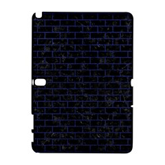 Brick1 Black Marble & Blue Leather Samsung Galaxy Note 10 1 (p600) Hardshell Case by trendistuff