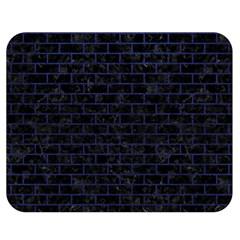 Brick1 Black Marble & Blue Leather Double Sided Flano Blanket (medium) by trendistuff