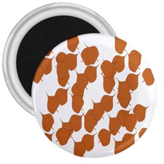 Machovka Autumn Leaves Brown 3  Magnets by Alisyart