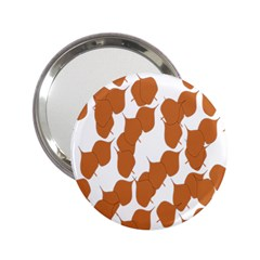 Machovka Autumn Leaves Brown 2 25  Handbag Mirrors by Alisyart