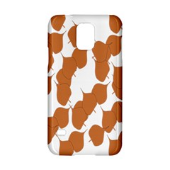 Machovka Autumn Leaves Brown Samsung Galaxy S5 Hardshell Case  by Alisyart