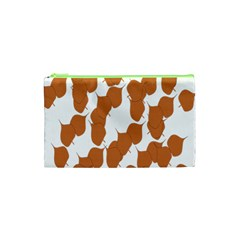 Machovka Autumn Leaves Brown Cosmetic Bag (xs) by Alisyart