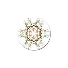 Floral Tree Leaf Flower Star Golf Ball Marker by Alisyart