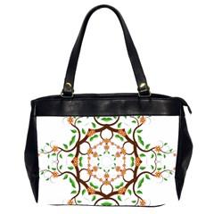 Floral Tree Leaf Flower Star Office Handbags (2 Sides)  by Alisyart