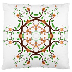 Floral Tree Leaf Flower Star Large Cushion Case (one Side) by Alisyart