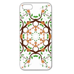 Floral Tree Leaf Flower Star Apple Seamless Iphone 5 Case (clear) by Alisyart
