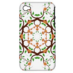 Floral Tree Leaf Flower Star Apple Iphone 4/4s Hardshell Case (pc+silicone) by Alisyart