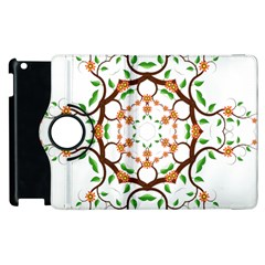 Floral Tree Leaf Flower Star Apple Ipad 2 Flip 360 Case by Alisyart
