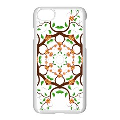 Floral Tree Leaf Flower Star Apple Iphone 7 Seamless Case (white) by Alisyart