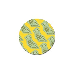 Money Dollar $ Sign Green Yellow Golf Ball Marker (10 Pack) by Alisyart