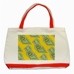Money Dollar $ Sign Green Yellow Classic Tote Bag (red) by Alisyart