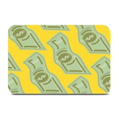 Money Dollar $ Sign Green Yellow Plate Mats by Alisyart