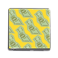 Money Dollar $ Sign Green Yellow Memory Card Reader (square) by Alisyart