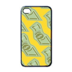 Money Dollar $ Sign Green Yellow Apple Iphone 4 Case (black) by Alisyart