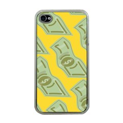 Money Dollar $ Sign Green Yellow Apple Iphone 4 Case (clear) by Alisyart