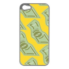 Money Dollar $ Sign Green Yellow Apple Iphone 5 Case (silver) by Alisyart