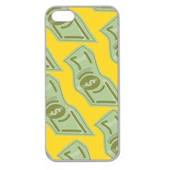Money Dollar $ Sign Green Yellow Apple Seamless Iphone 5 Case (clear) by Alisyart