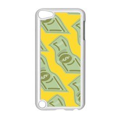 Money Dollar $ Sign Green Yellow Apple Ipod Touch 5 Case (white) by Alisyart