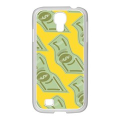 Money Dollar $ Sign Green Yellow Samsung Galaxy S4 I9500/ I9505 Case (white)