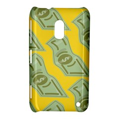 Money Dollar $ Sign Green Yellow Nokia Lumia 620 by Alisyart