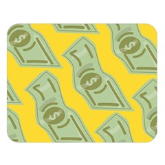 Money Dollar $ Sign Green Yellow Double Sided Flano Blanket (large)  by Alisyart