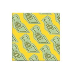 Money Dollar $ Sign Green Yellow Satin Bandana Scarf by Alisyart