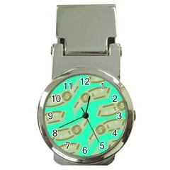 Money Dollar $ Sign Green Money Clip Watches by Alisyart