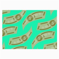 Money Dollar $ Sign Green Large Glasses Cloth (2 Side)