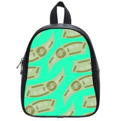 Money Dollar $ Sign Green School Bags (small)  by Alisyart