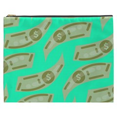 Money Dollar $ Sign Green Cosmetic Bag (xxxl)  by Alisyart