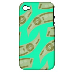 Money Dollar $ Sign Green Apple Iphone 4/4s Hardshell Case (pc+silicone) by Alisyart