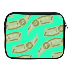 Money Dollar $ Sign Green Apple Ipad 2/3/4 Zipper Cases by Alisyart