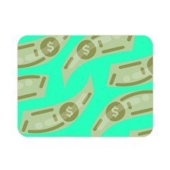 Money Dollar $ Sign Green Double Sided Flano Blanket (mini)  by Alisyart