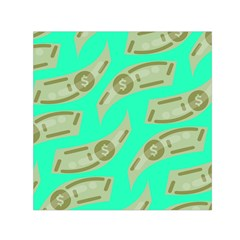 Money Dollar $ Sign Green Small Satin Scarf (square) by Alisyart