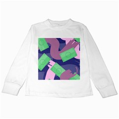 Money Dollar Green Purple Pink Kids Long Sleeve T Shirts by Alisyart