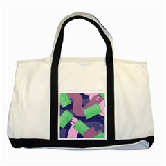 Money Dollar Green Purple Pink Two Tone Tote Bag by Alisyart