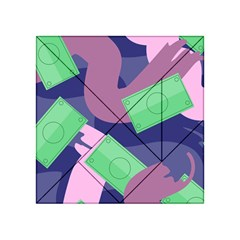 Money Dollar Green Purple Pink Acrylic Tangram Puzzle (4  X 4 ) by Alisyart