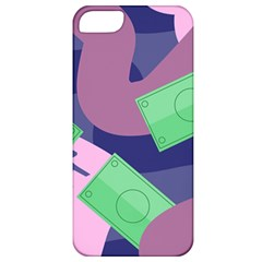 Money Dollar Green Purple Pink Apple Iphone 5 Classic Hardshell Case by Alisyart
