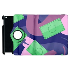 Money Dollar Green Purple Pink Apple Ipad 2 Flip 360 Case by Alisyart
