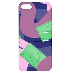 Money Dollar Green Purple Pink Apple Iphone 5 Hardshell Case With Stand by Alisyart