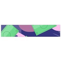 Money Dollar Green Purple Pink Flano Scarf (small) by Alisyart