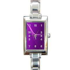 Purple Line Rectangle Italian Charm Watch by Alisyart