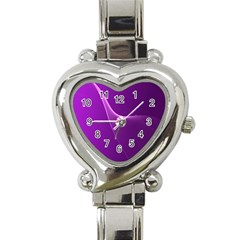Purple Line Heart Italian Charm Watch by Alisyart
