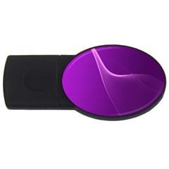 Purple Line Usb Flash Drive Oval (4 Gb) by Alisyart