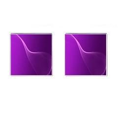 Purple Line Cufflinks (square) by Alisyart