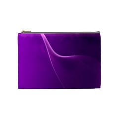 Purple Line Cosmetic Bag (medium)  by Alisyart