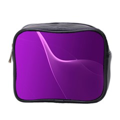 Purple Line Mini Toiletries Bag 2 Side by Alisyart